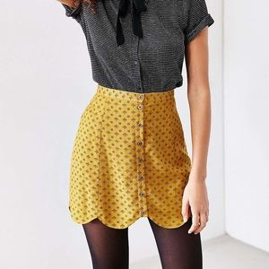UO Cooperative Button Up Skirt